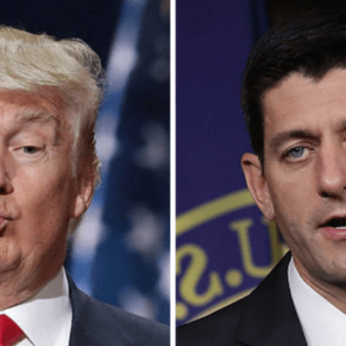 Donald Trump supporters shout 'Paul Ryan sucks!'